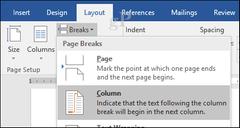 Column break (Word)