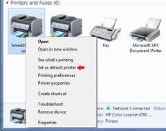 Default printer