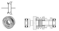shift between different gears