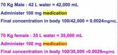 Calculate the constant of medication
