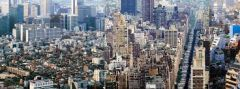 What are urban centers with populations of over 10 million called?