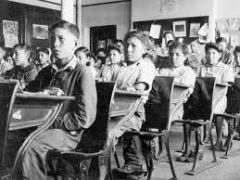 Boarding schools for the acculturation and assimilation of Aboriginal students, run by religious groups or the government from the 1830s to the 1950s.