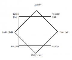 Air/Yellow BileFire/Blood Water/Phlegm Earth/Black Bile