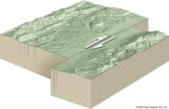 a strike-slip fault occurring at the boundary between two plates of the earth's crust.