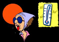 Hace calor.