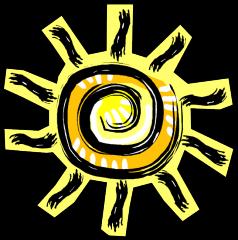Hace sol or Está soleado.