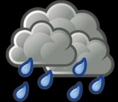 Está lloviendo or Llueve.