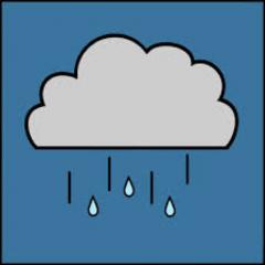 Está lloviznando.
