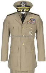 A durable fabric often used for military uniforms