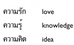 khwaam (used to form abstract nouns ) + VERB
