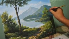 The artist was very careful with his painting because he wanted the aesthetic to be perfect.