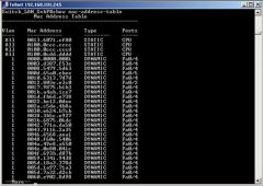 CLI command that lists all known MAC addresses in the MAC table
