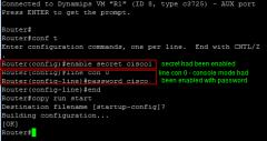 enable secret password