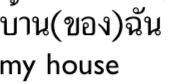NOUN + (khoong) + POSSESSOR   khoong is optional and is very frequently   omitted