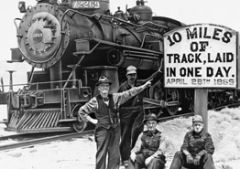 a major challenge facing the builders of the transcontinental railroad