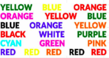 why individuals find it difficult to read words in a different color