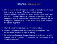 answer: extra-thyroidal tissue producing hyperthyroidism