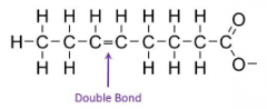 Fatty acids with carbon carbon-carbon double bonds in the hydrocarbon chain