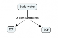 ECF = Extracellular Fluid  (a Body water compartment)