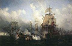 Derrota Franco-Española contra Gran Bretaña en 1805.