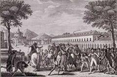 Motín en 1808 a favor de Fernando que hace abdicar a Carlos IV