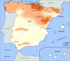 Territorios en los que el Carlismo tenia una mayor implantación.