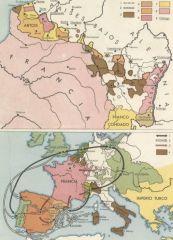 Países que apoyaban a Felipe de Anjou en la Guerra de Sucesión.