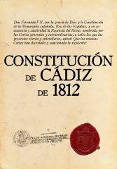 Constitución resultante de las Cortes de Cádiz.