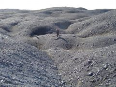 This moraine is _caused_ by this type of ice.