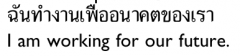 phueacan be translated as 'for the sake of' and often conveys an idea of altruism