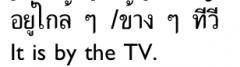 klây klây ('near') or khângkhâang('next to, beside');