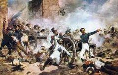 Tipo de guerra empleada por los españoles contra los franceses en la Guerra de independencia, consistente en evitar el enfrentamiento en campo abierto.