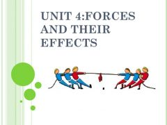 1.5: Forces  (i) Effects of             forces