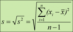 the square root of the variance;