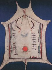 This white buffalo robe depicts interaction between the French and the _________________.