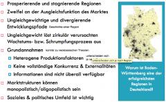 Vertreter der Theorien: - Sektorale Polarisation: Growth Poles (PERROUX) - Regionale Polarisation: Unbalanced Growth Theory (HIRSCHMANN), Cumultative Causation (MYRDAL) - Zentrum-Peripherie (FRIEDMAN)