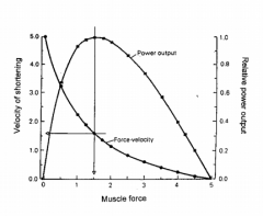 Contraction and shortening of muscle against a load is done via external work.Work = force x distance Power = force x velocity. Maximum power is achieved when the muscle is contracting with about 1/3rd maximum force and 1/3rd maximum velocity of s...