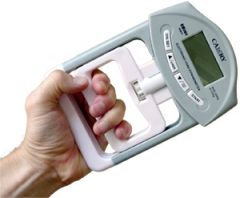 Hand grip dynamometer  1 repetition maximum