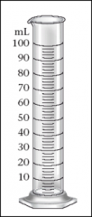 8.If the graduated cylinder pictured here were used to measure a volume of liquid, which value below is most likely to represent a value recorded correctly, considering the uncertainty in the measurement?   10 mL   61 mL   72.5 mL   81.45 mL