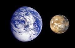 ~ half the radius of the Earth