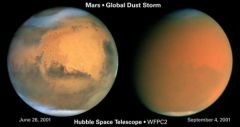 Hubble photos: June 26 (left) and Sept 4, 2001 (right)