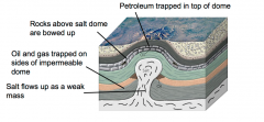 • Salt deposited along continental margins and other settings in layers that get buried •Salt is weak geologic material and flows when subjected to forces •Flow heals fractures and makes impermeable, but salt is soluble