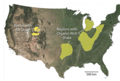 ________ occur in the western US and in Australia and Canada. It is accumulated as clay-rich sediment that trapped abundant organic material within small pore spaces. Most are formed in lakes, lagoons, and estuaries.