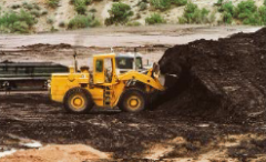 __________ consists of thick, heavy oil intermixed with sand, clay and other sediment. It forms when oil generated through normal processes is degraded by bacteria.