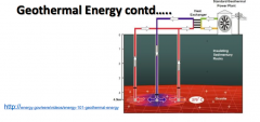 Describe this processes of geothermal energy: