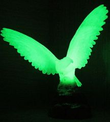 Phosphorescent pigments glow in the dark, first absorbing light and then emitting it.