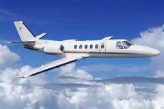 Which aircraft is depicted here? A. Citation 550 B. Citation X (10) C. Beechjet D. Golden Eagle