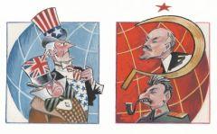 Tensions between capitalist/democracy US andcommunist/totalitarian USSR
