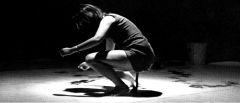 """Shigeko Kubota, """"Vagina Painting"""" 1965. Performance."""