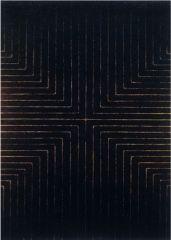 """Frank Stella, """"Die Fahne Hoch!"""" 1959. Enamel on canvas."""